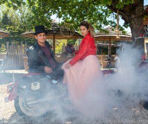 La moto degli sposi